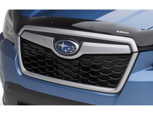 2017-2018 Subaru Forester Front Upper Grille; Matt-Black With Chrome Molding; Made Of Abs Plastic Partslink SU1210104